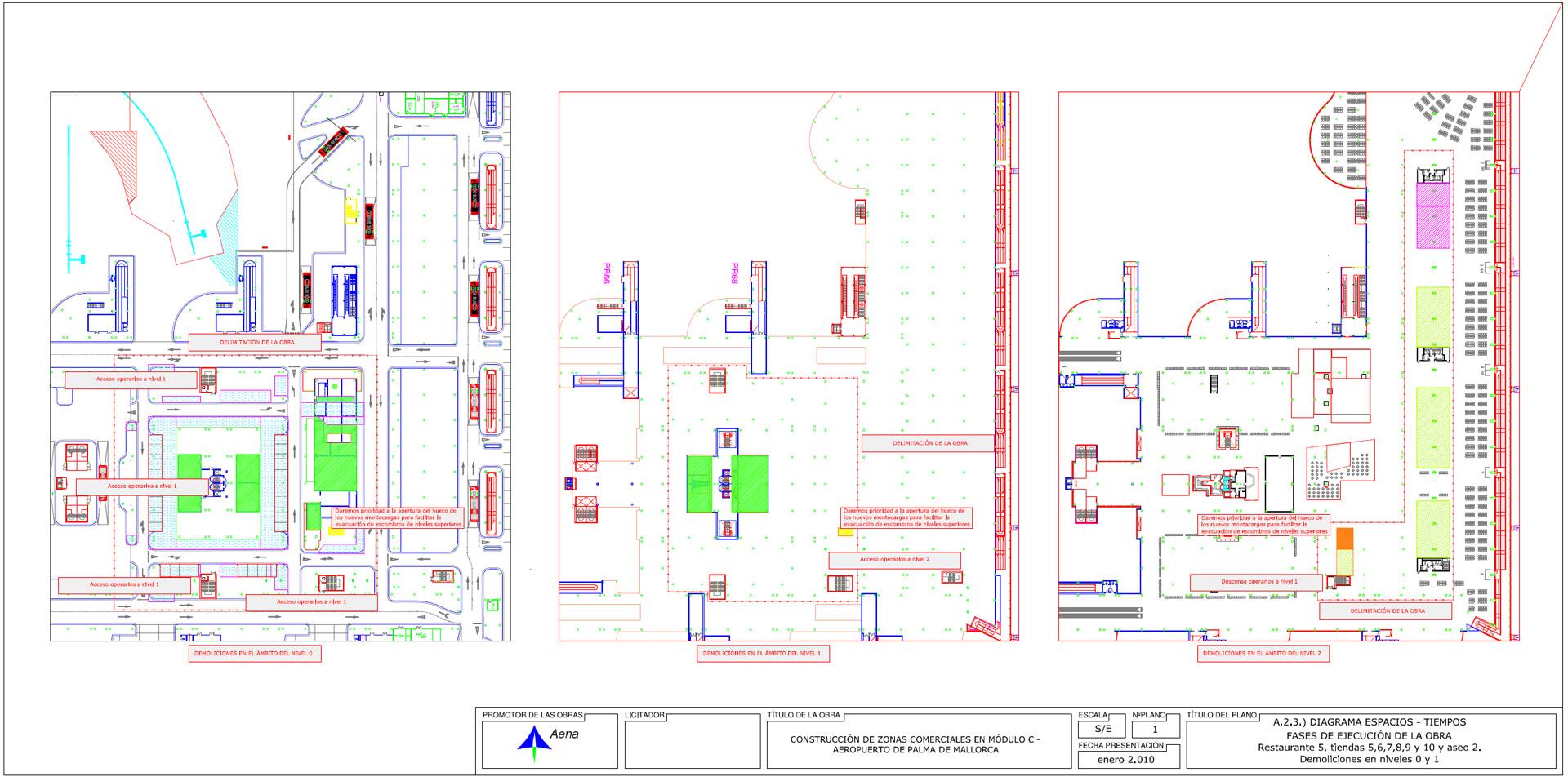 Aeropuerto Mallorca. Fases ejecución elaboradas por DEINTEC.1
